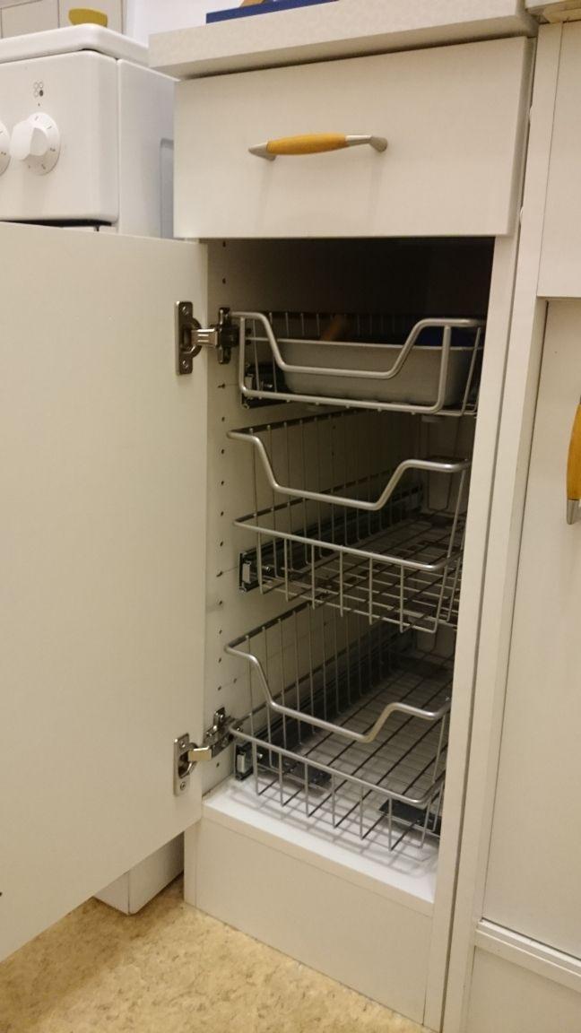 Toller Stauraum Nachgerüstet mit einem Schrankauszug von stauraum - schubladen küche nachrüsten