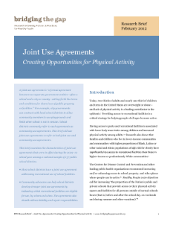 Joint Use Agreements Increase Opportunities for Physical Education