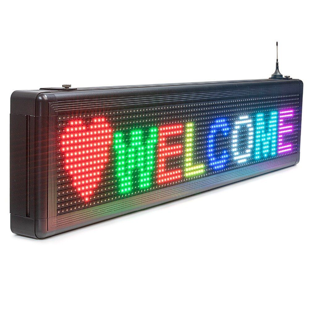 2019 New P10 Smd Outdoor Waterproof Rgb Full Color Led Display Ios Wifi Programmable Scrolling Information Temperature Signag Led Color Digital Signs Led Signs