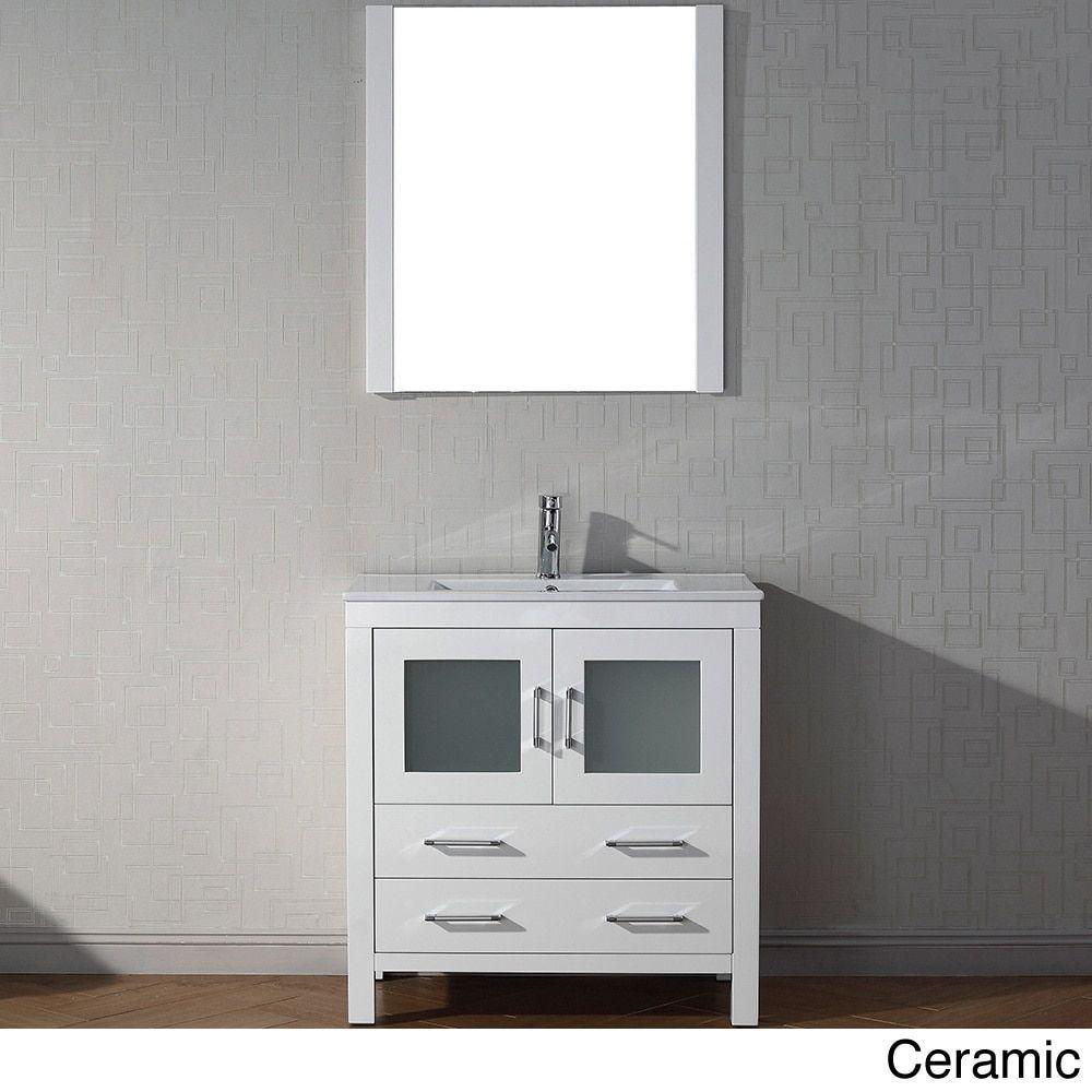 Virtu USA Dior 30 inch Single Sink Vanity Set in White (Dior 30 inch in white w