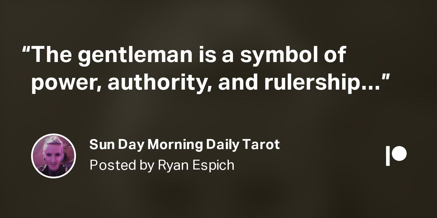 Photo of Sun Day Morning Daily Tarot  | Ryan Espich on Patreon
