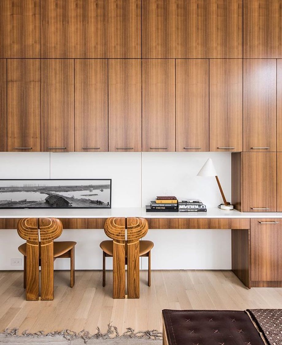 A Dream Home Office Aesthetically Defined By Mid Century Modern