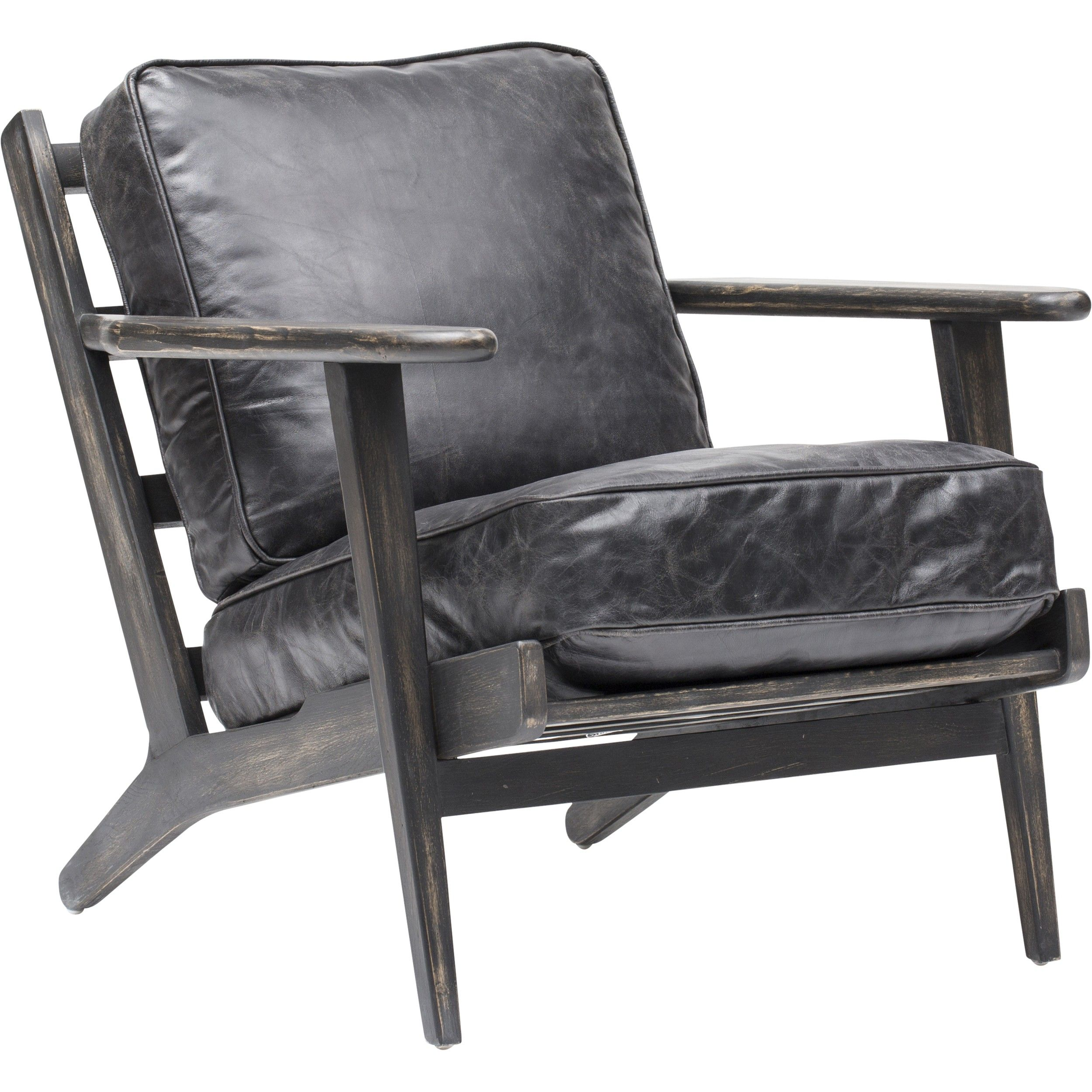 Brooks Leather Lounge Chair Ebony Decor Ideas Using