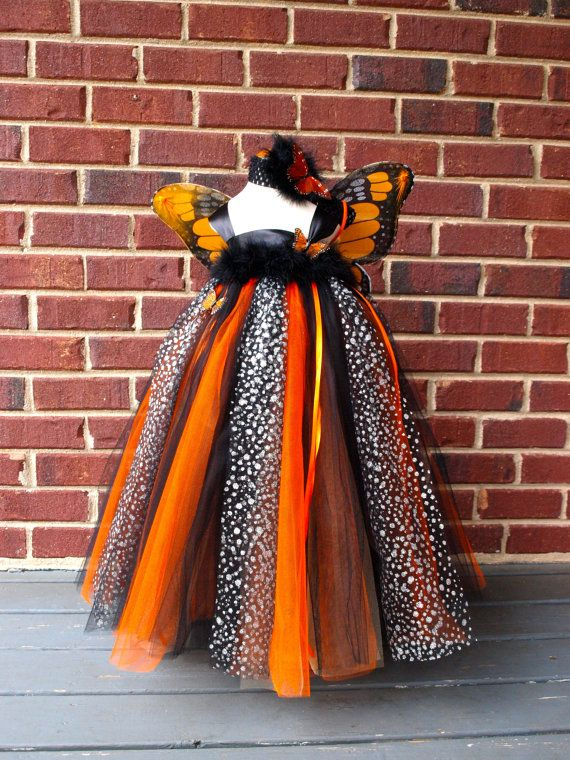 Monarch Butterfly Tutu Dress Costume For By