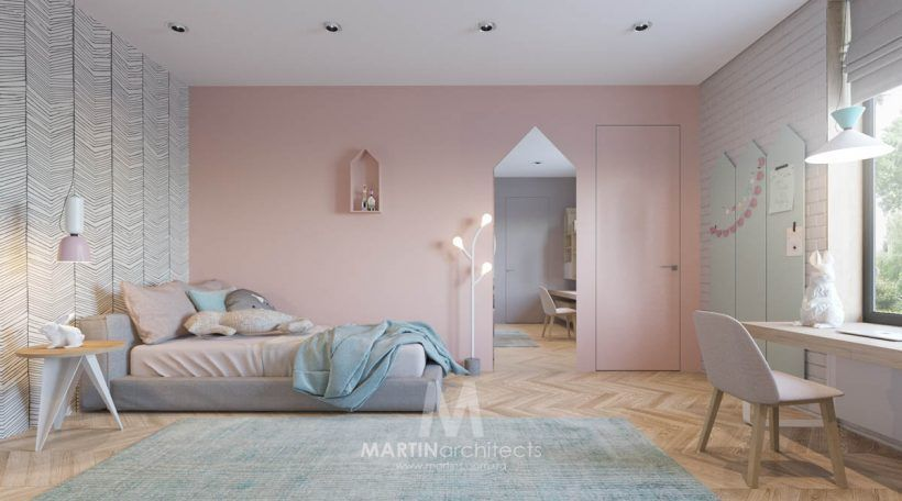 Attractive Contemporary Cool Apartment With Contemporary Calming Color Scheme View Of  Kids Room Design Apartments Girls Room Decor Cool Apartment With  Contemporary ...