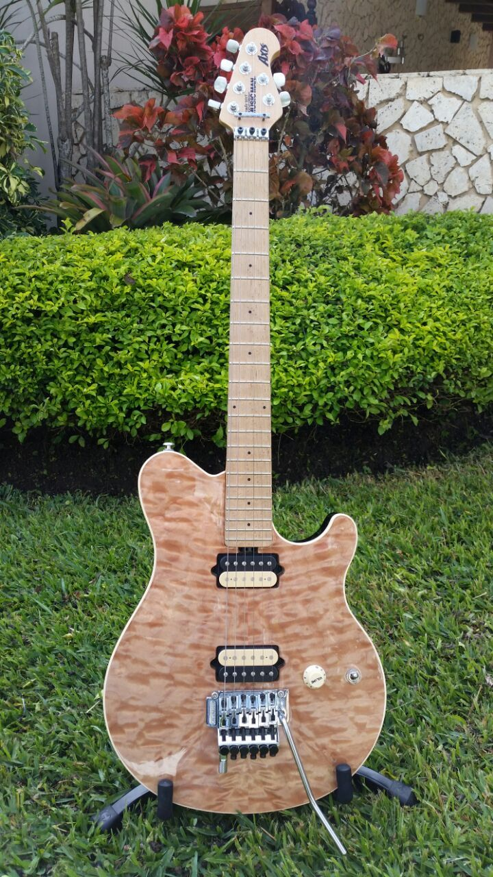 Music Man Evh Wolfgang Wiring Diagram Electrical Diagrams Pickup Axis Natural Quilt Top Guitar Influence Pinterest Hagstrom