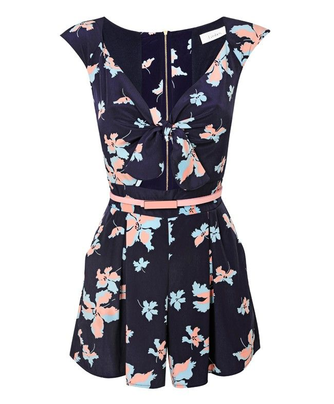 Palms Belted Playsuit - Playsuits/Jumpsuits - Clothing | LashesofLondon.com