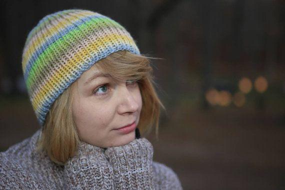 Handmade knit hat on Etsy, $18.00