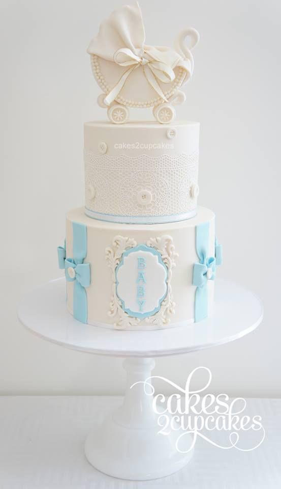 Baby shower cake for boys.