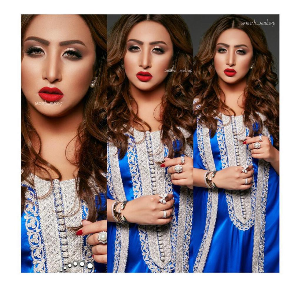 نجوى On Instagram خبيره التجميل سميرة المهناء من السعوديه Samerh Makeup جلابية Bazaar Design من الكولكشن القديم تتوقع Beautiful Fashion Crown Jewelry