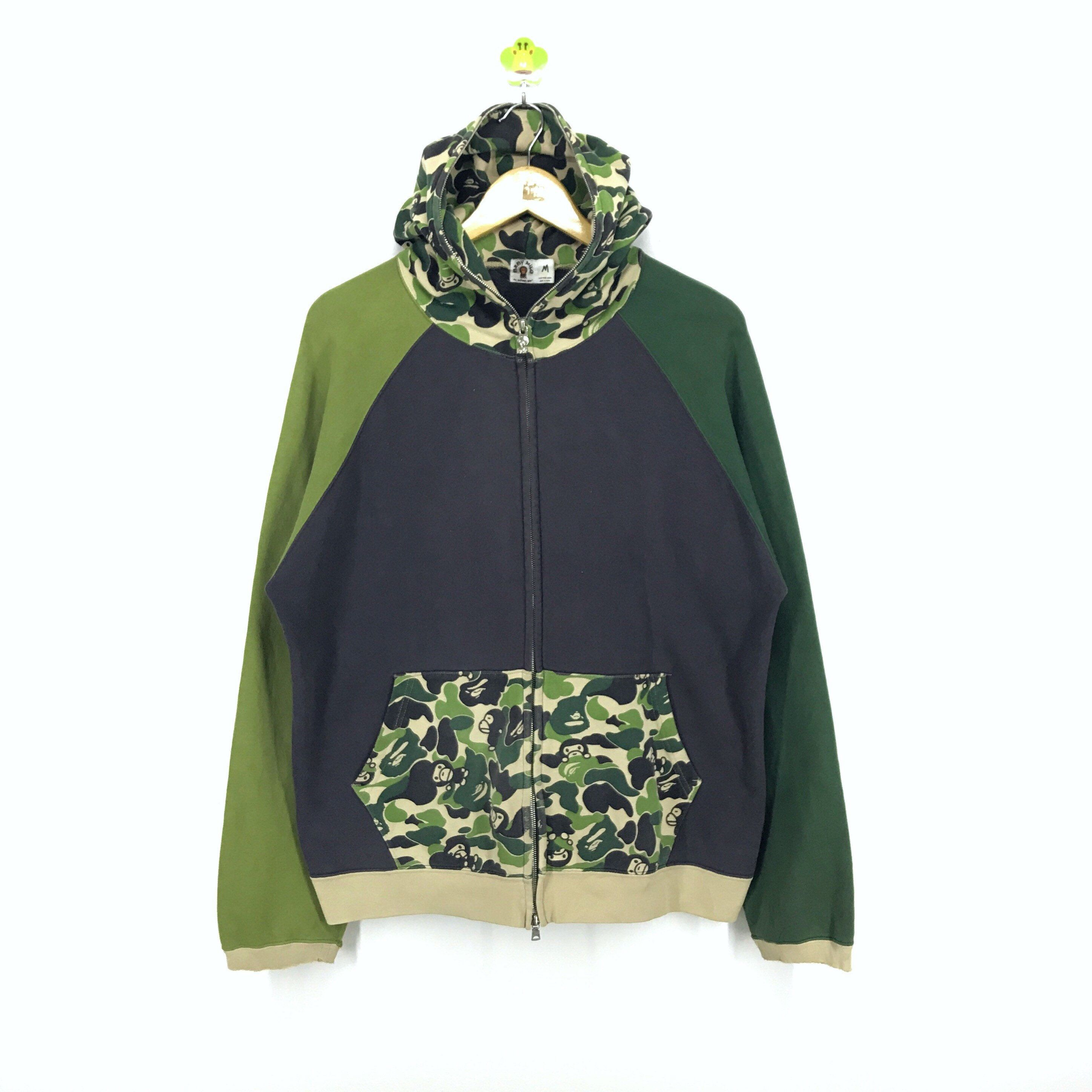 b70a21856032 Vintage 90s A Bathing Ape Baby Milo Sweater Pullover Hoodie Fullzip  Camouflaged Size M  abathingape  hoodie