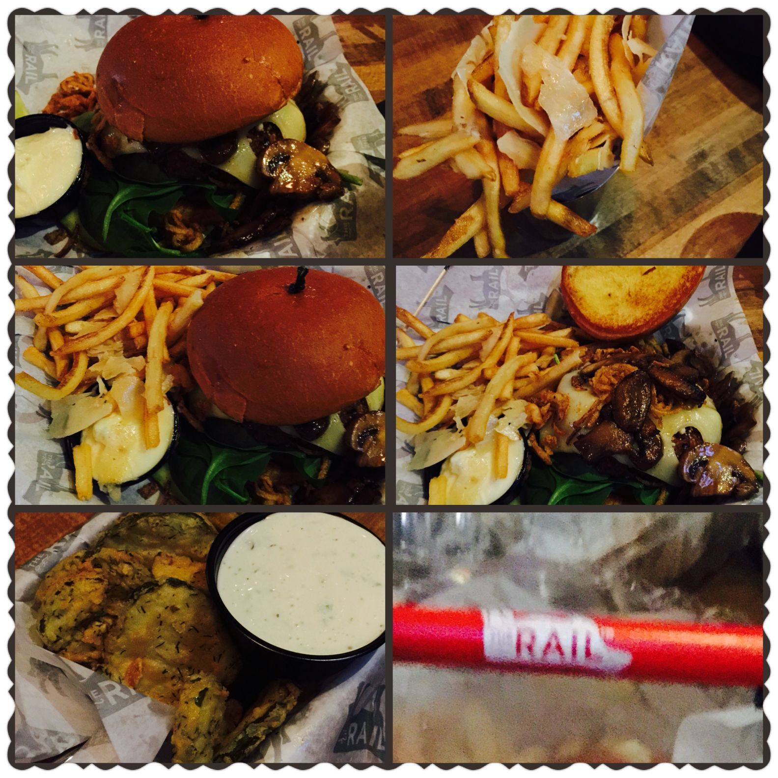 Veggie Burger From The One And Only Therail Restaurant Here In Canton We Paired It With Some Truffle Fries And Some Fried Truffle Fries Veggie Burger Food