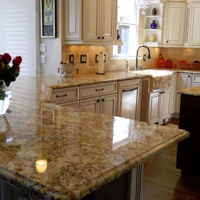 Backsplash Granite Combination Kitchen Countertops Kitchen