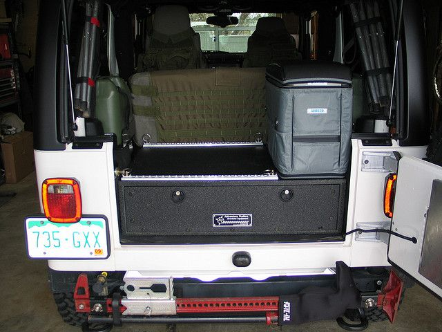 I Have A Custom Drawer In My Jeep Wrangler Lj From The
