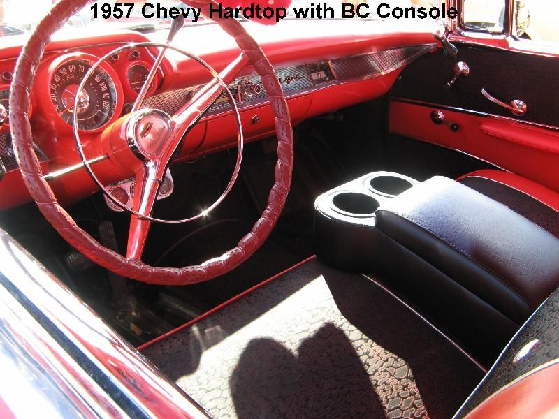 Classic Car Consoles with Cup Holders for Bench Seat Cars 50\'s, 60\'s ...