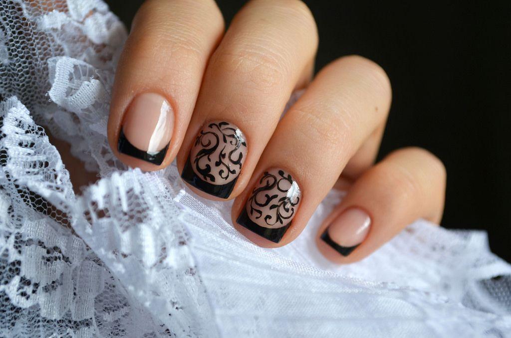 Простые узоры на ногтях для начинающих поэтапно (50 фото ...