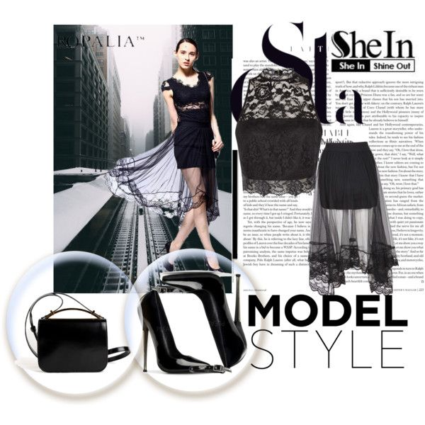 sheinside by sejla15 on Polyvore featuring polyvore, fashion, style, Givenchy and Sheinside