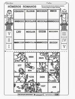 Los Numeros Romanos Com Imagens Matematica Montessori