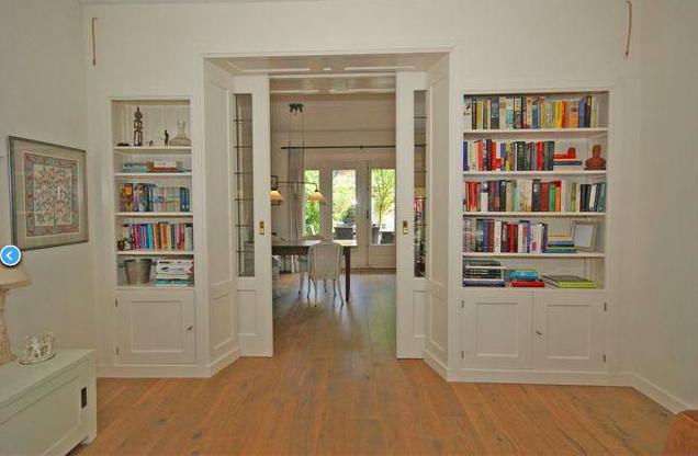 Wonderbaar ensuite deuren met boekenkast   Woonkamer inspiratie, Thuis QS-57