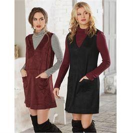 823dfaef141 WILDER SUEDE JUMPER DRESS