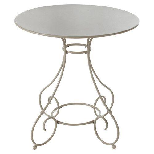 Gartentisch rund Metall taupe | Balkonideen | Pinterest ...