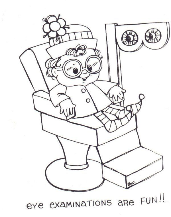 Free eye care coloring sheets Optometry Practice Pinterest - new coloring pages for eye doctor