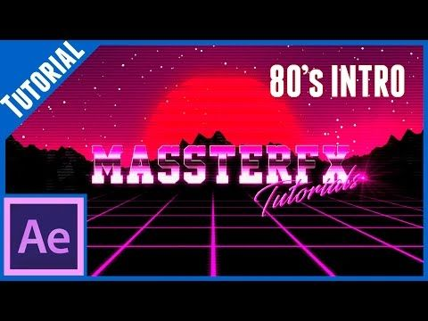 80´s Style Intro || After Effects Tutorial - YouTube | Adobe