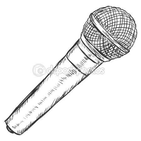 Ilustracao De Desenho Vetorial Microfone Dinamico Tatuagem Microfone Desenho De Microfone Microfone