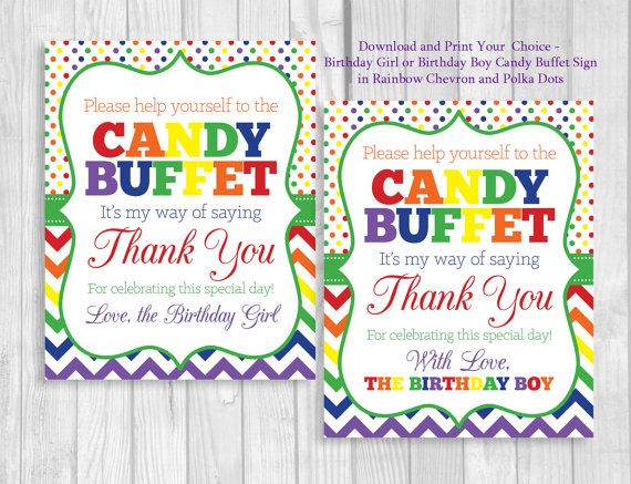 Fine Sale Rainbow Birthday Party Candy Buffet Sign Girl Or Boy Download Free Architecture Designs Intelgarnamadebymaigaardcom