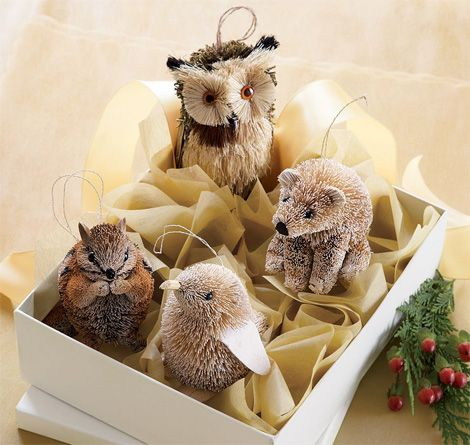 These Woodland Creature Ornaments Are So Cute I Gave Some To C Already Ever Woodland Christmas Ornaments Woodland Christmas Tree Christmas Decorations Rustic