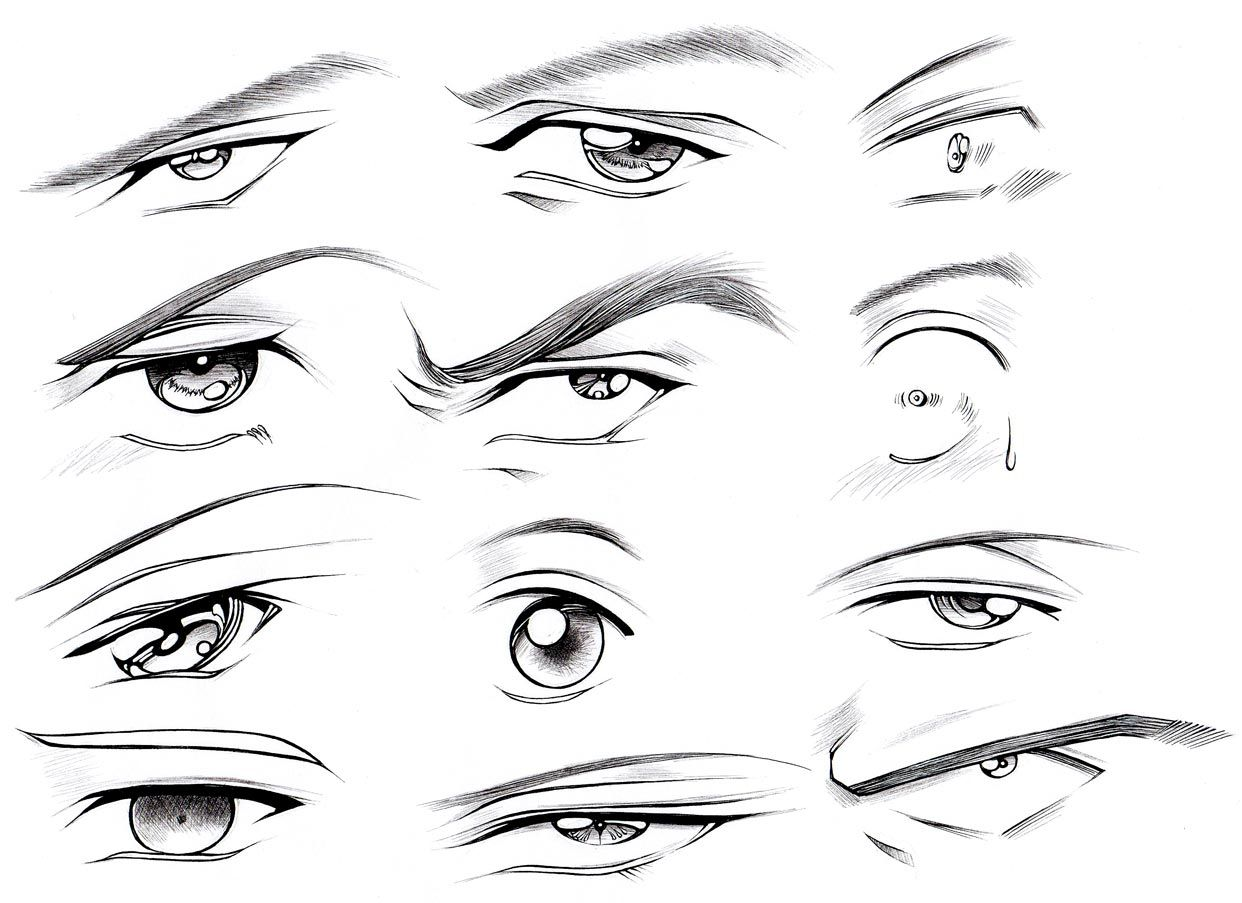 How to draw male eyes part 2 manga university campus store