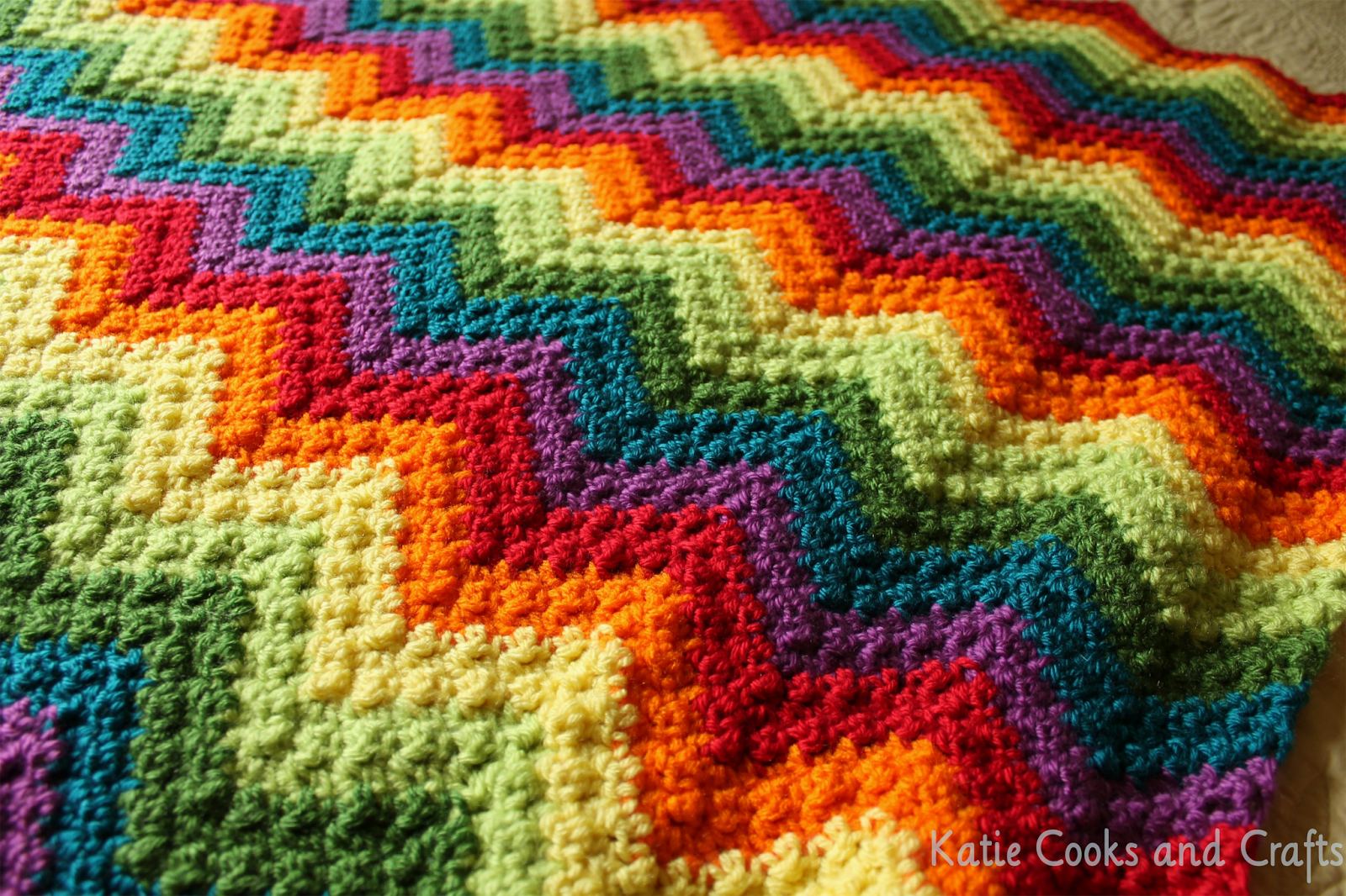 Rumpled Ripple Rainbow Crochet Baby Afghan By Katie - Free Crochet ...