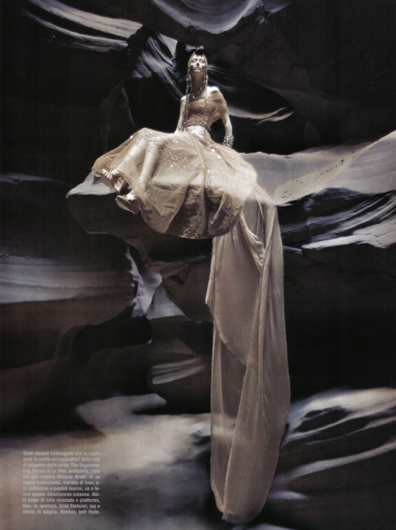 Alana Zimmer by Greg Lotus, Vogue Italia Beauty April 2010