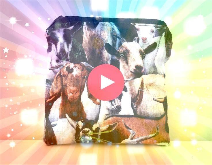 Muster Münztüte  Reißverschluss  kleine Tasche Nutztiere  gefüttert  Geldbörse  Collage  süße Muster  Geldbörse  lustiges Gesche...