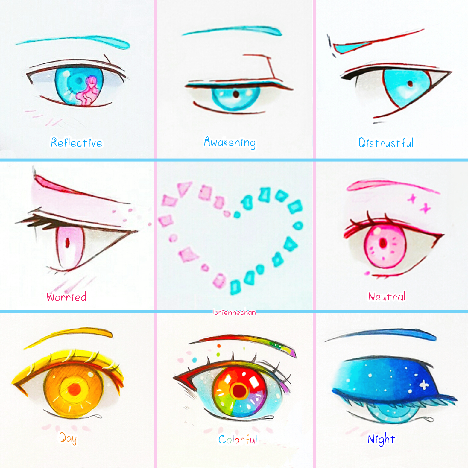 Eye Expressions Sheet 3 By Larienne