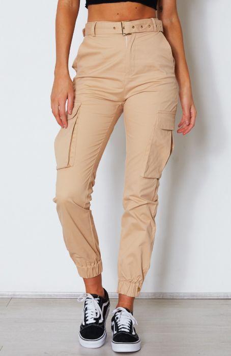Rocky Cargo Pants Beige is part of Cargo pants outfit - Description High Waisted Beige Cargo Pants