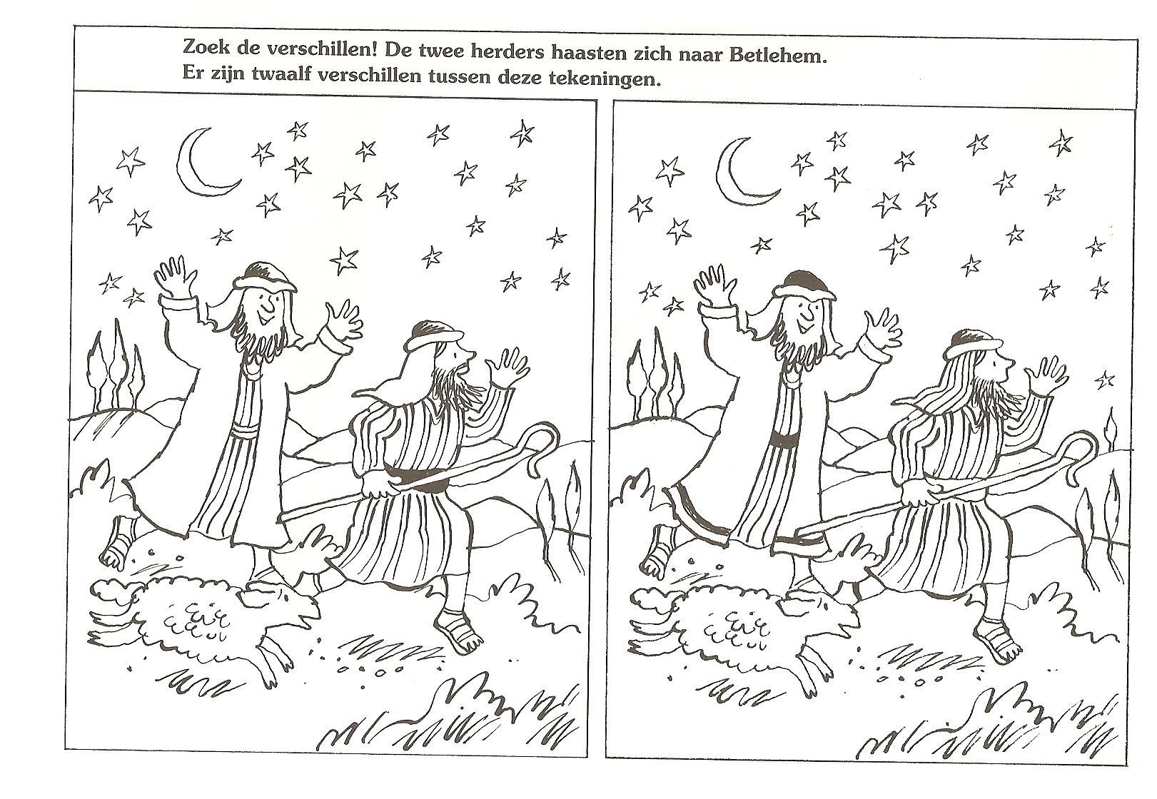 Spot The Differences The Two Shepherds Hasten To