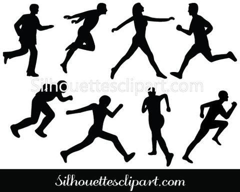 Athletics Silhouette Clip Art Pack