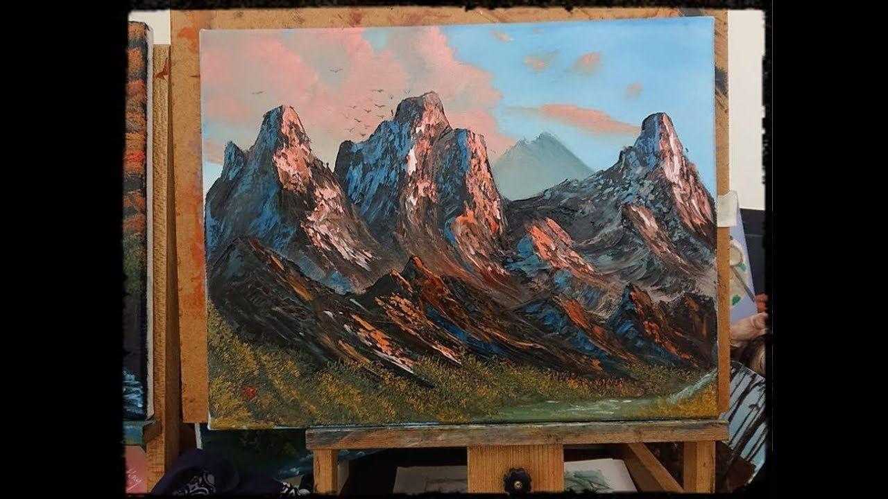 Blue winter wet on wet oil painting tutorial youtube | oil.
