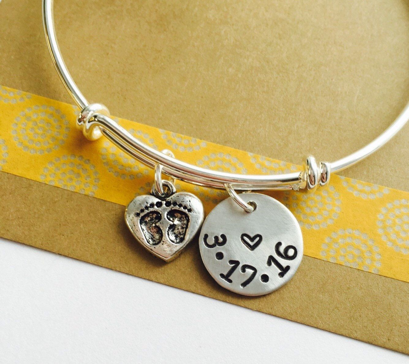 New Baby Bracelet Date Mom Mother S Day Family Personalized Mommy