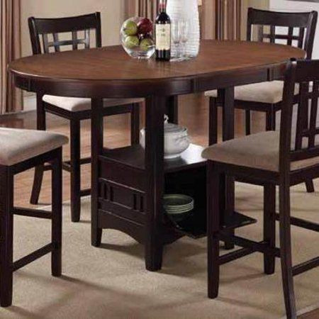 Coaster Company Lavon Dining Group in Light Chestnut and Espresso ...