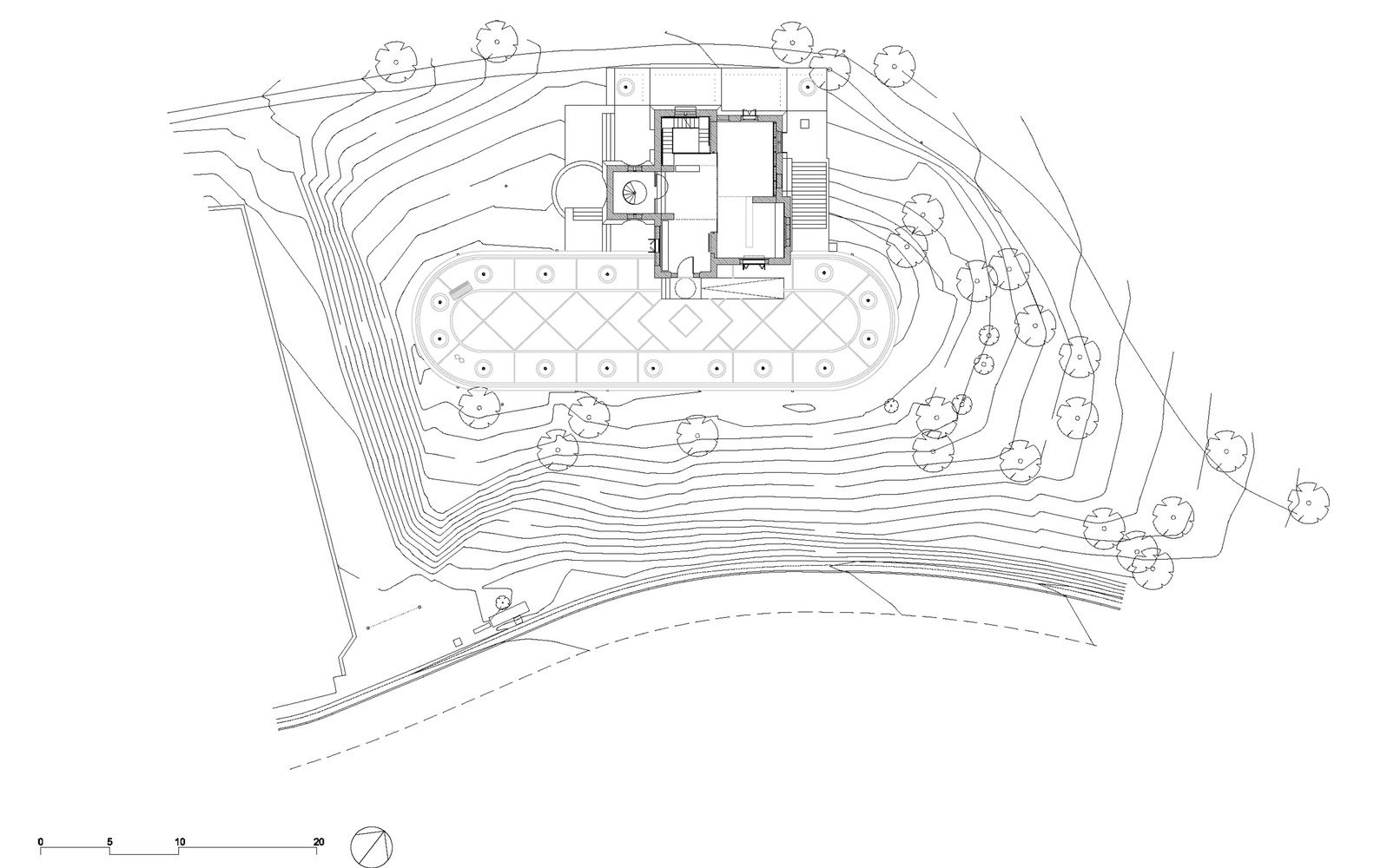 Rehabilitación de la Torre del Baró,Site Plan
