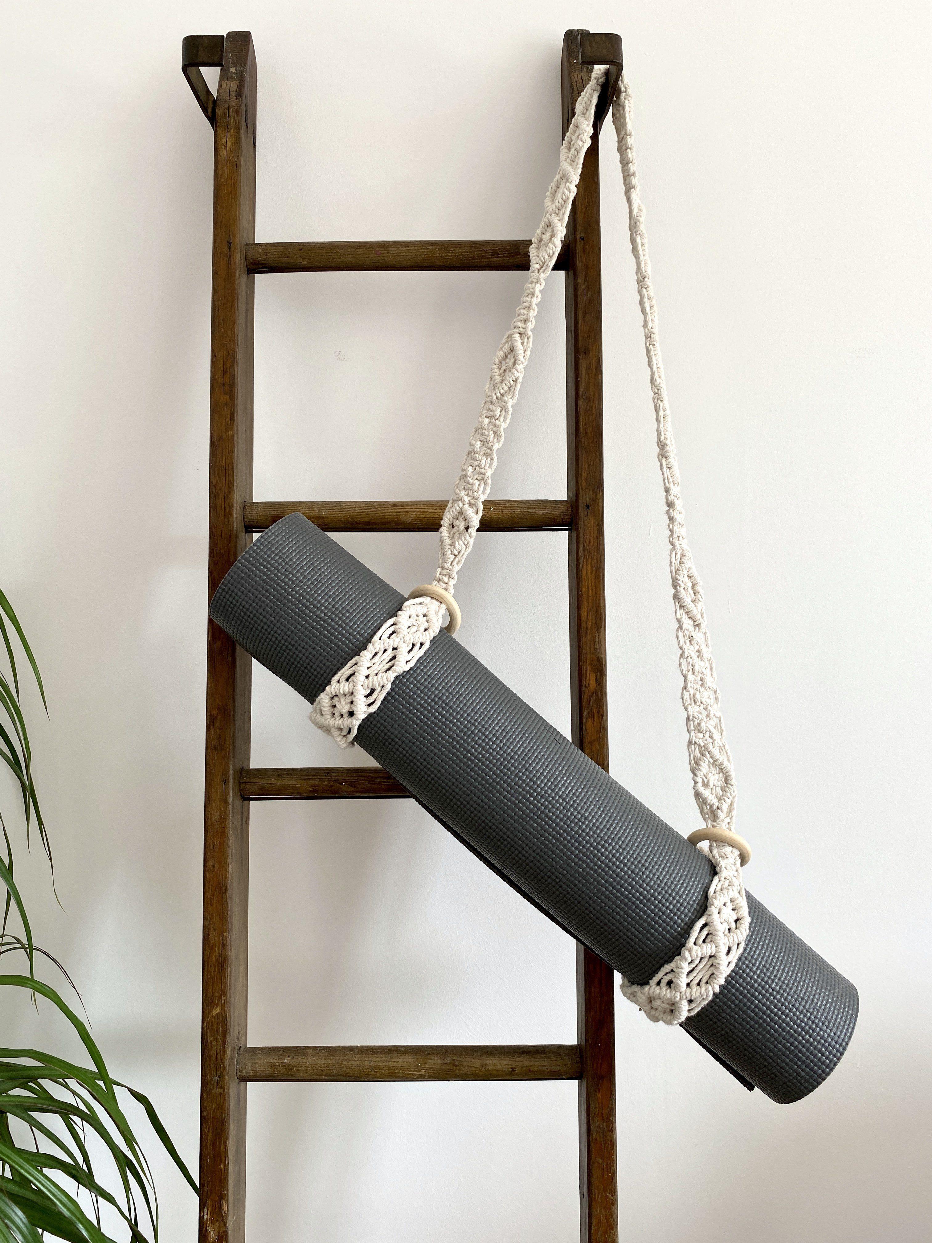 Macrame Yoga Mat Strap - Sage