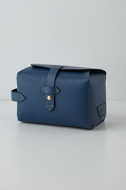 Leather-Stitched Dopp Kit #anthropologie