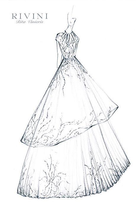 Savannah Guthrie's Wedding Dress: Designer Sketches