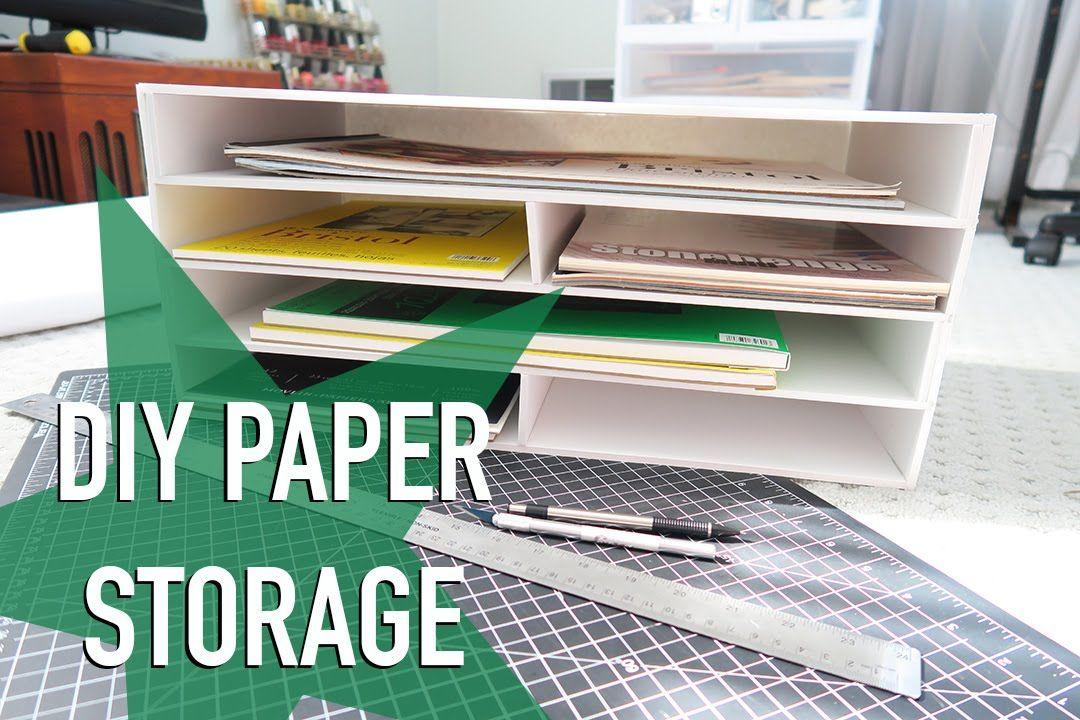 Diy Paper Storage Announcement Paper Storage Diy Storage Desk