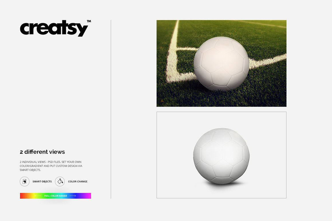 Download Soccer Ball Mockup Set Creative Typography Design Photoshop Template Creative Market