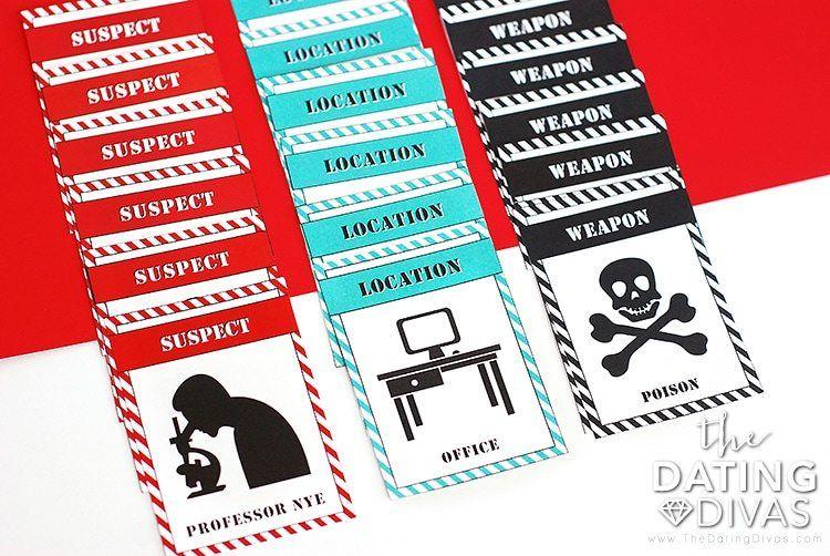 11+ Murder mystery game kit target treatment