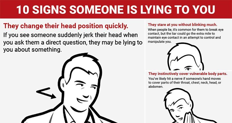 10 Ways You Can Tell Someone's Lying To You