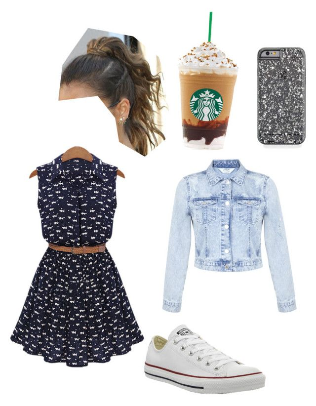 """""""Untitled #31"""" by kabass ❤ liked on Polyvore featuring Miss Selfridge and Converse"""